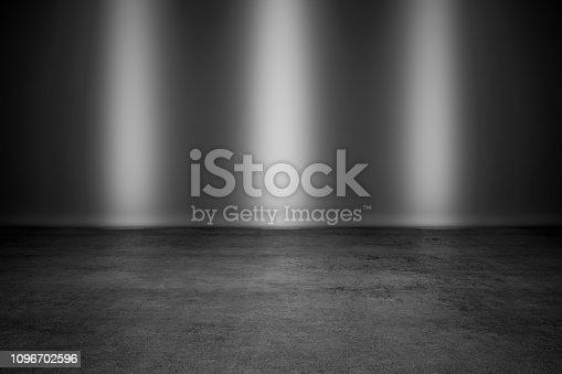 black background spotlight
