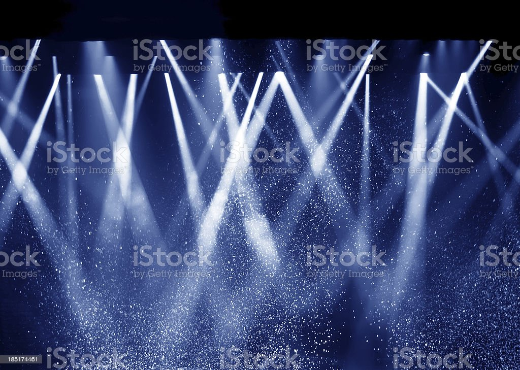 Black background, the spotlight. stock photo