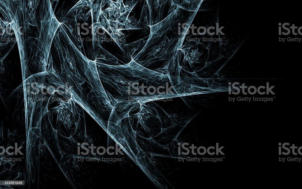 A black background with a cobweb stock photo