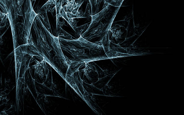 a black background with a cobweb - spider web stock photos and pictures