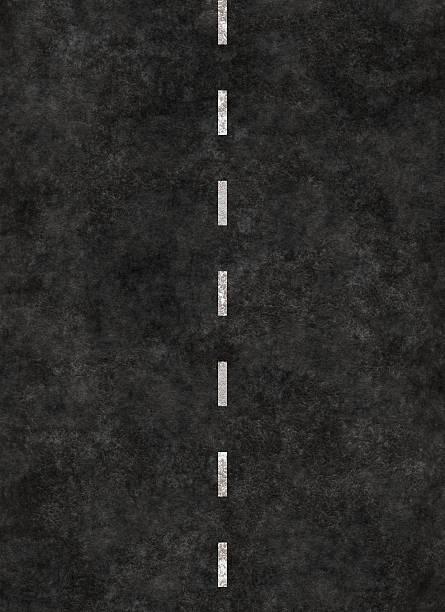 Rayures verticales ligne de la route - Photo