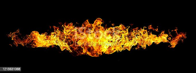 1067101542 istock photo Black background with abstract flame 1215631068