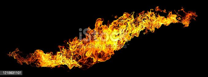 1067101542 istock photo Black background with abstract flame 1215631101