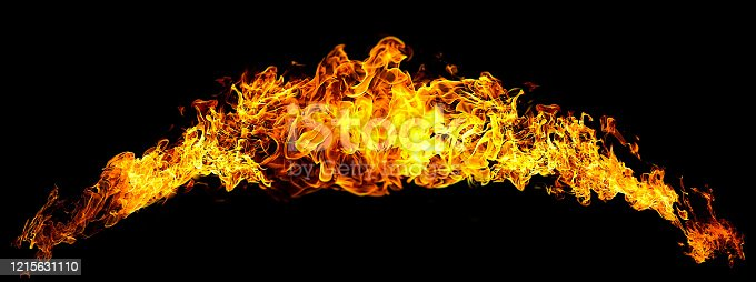 1067101542 istock photo Black background with abstract flame 1215631110