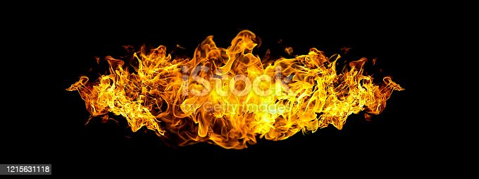 1067101542 istock photo Black background with abstract flame 1215631118
