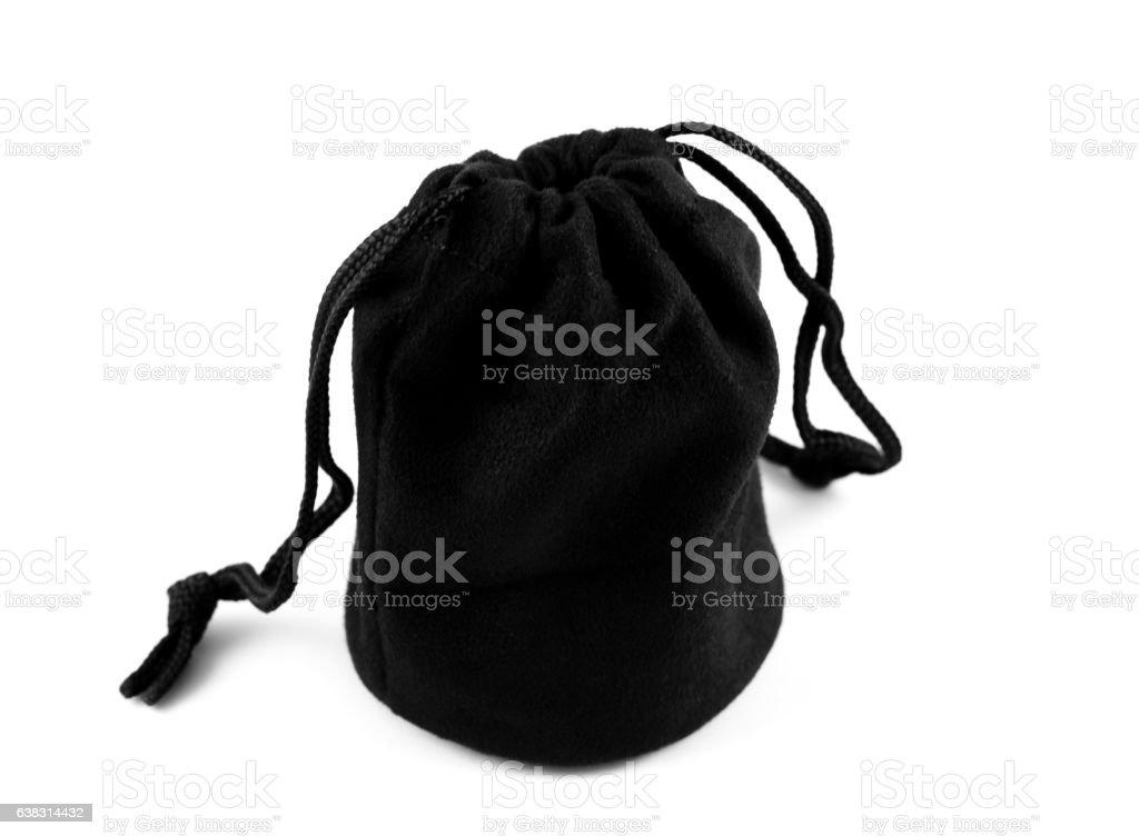 black bag stock photo