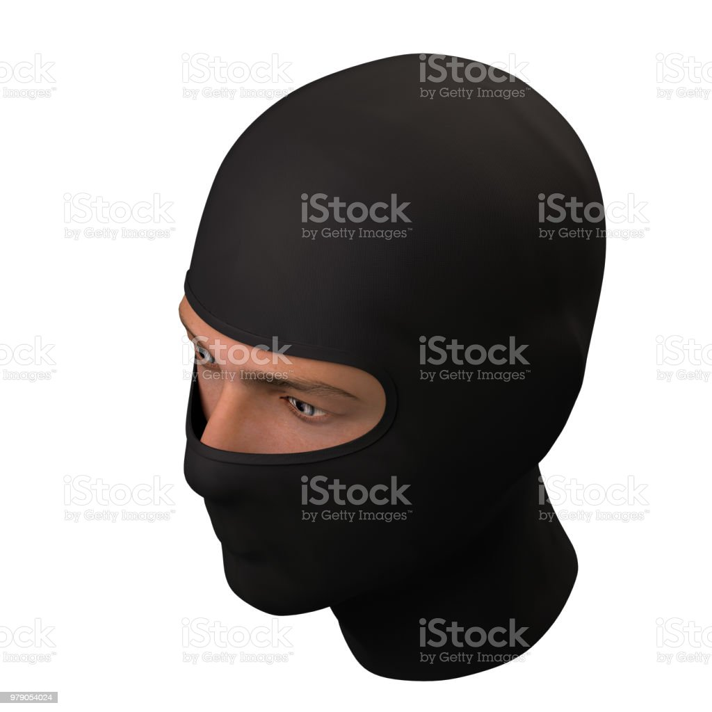 Black Balaclava mask stock photo