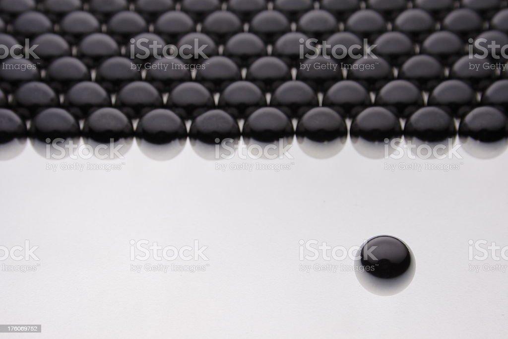 Black ball stock photo