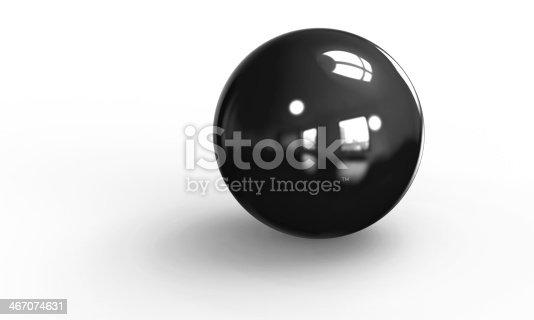 453066423 istock photo black ball shpere 3d model isolated on white 467074631