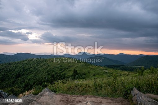 istock Black Balsam Knob in Western NC at Sunset 1165624635