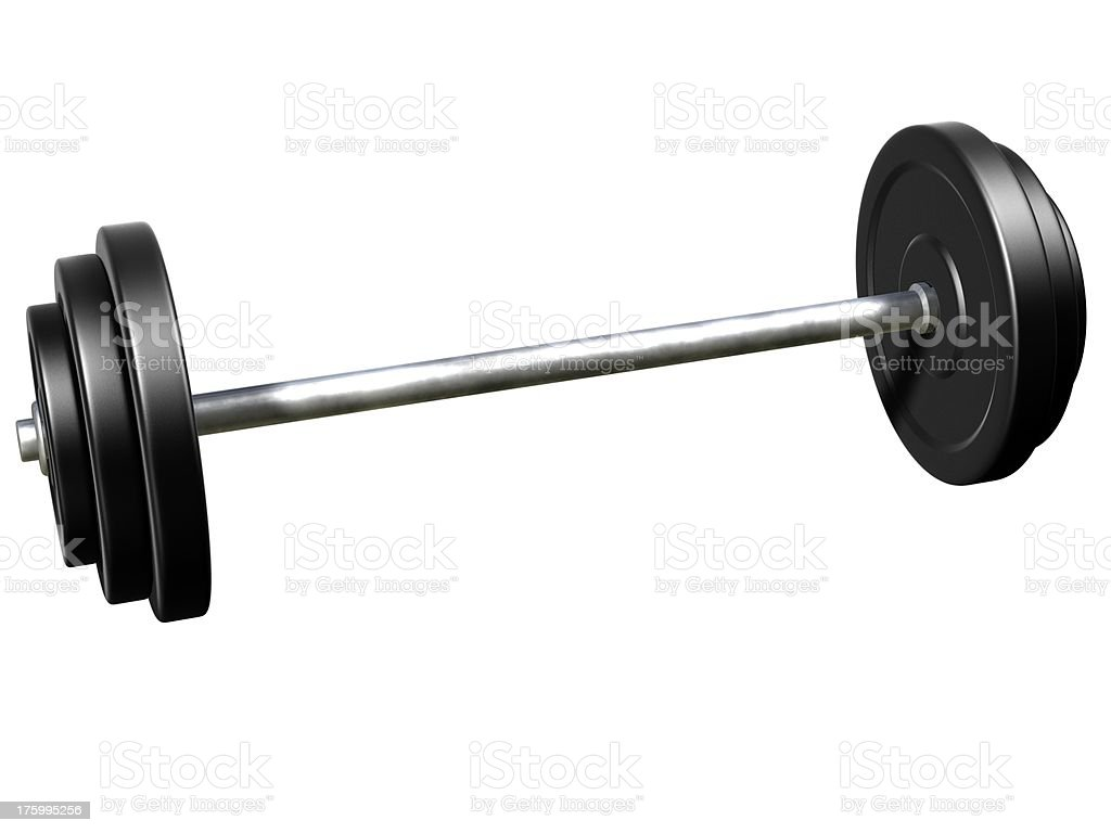 Black Barbells more weight royalty-free stock photo