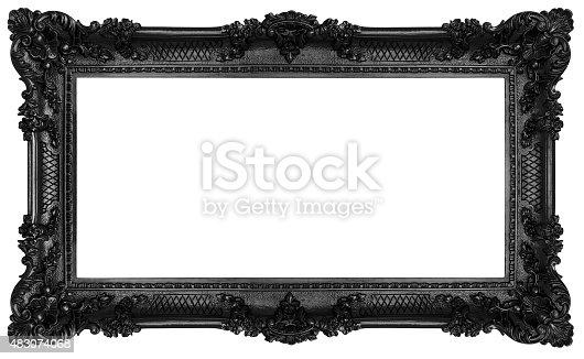 istock Black Baroque frame 483074068