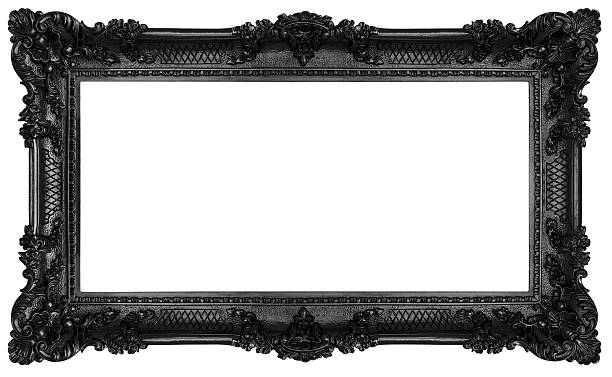 black baroque frame - baroque stock photos and pictures