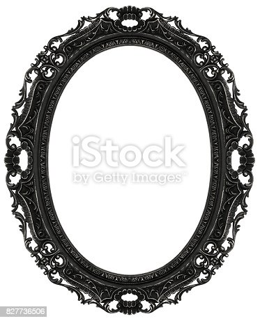 Black Baroque Oval Frame Stock Photo & More Pictures of Aging ...