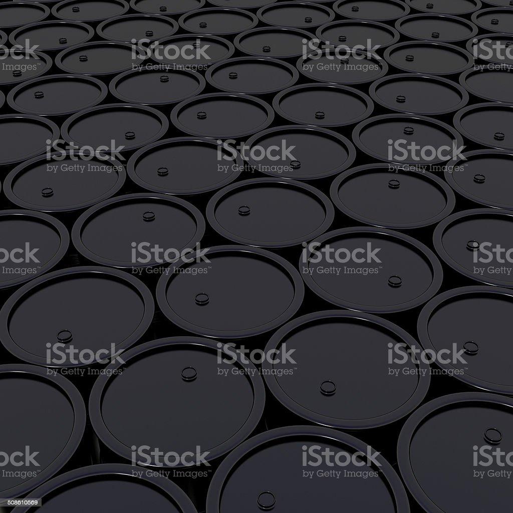 black barrels stock photo