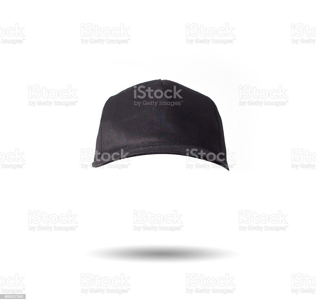 Black Baseball Cap On White Background Isolated Mock Up Free Space
