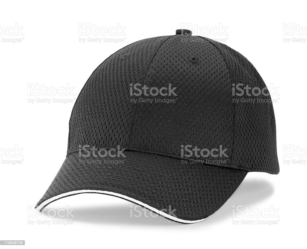 Black Baseball Cap stock photo