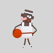 Black bastketball player
