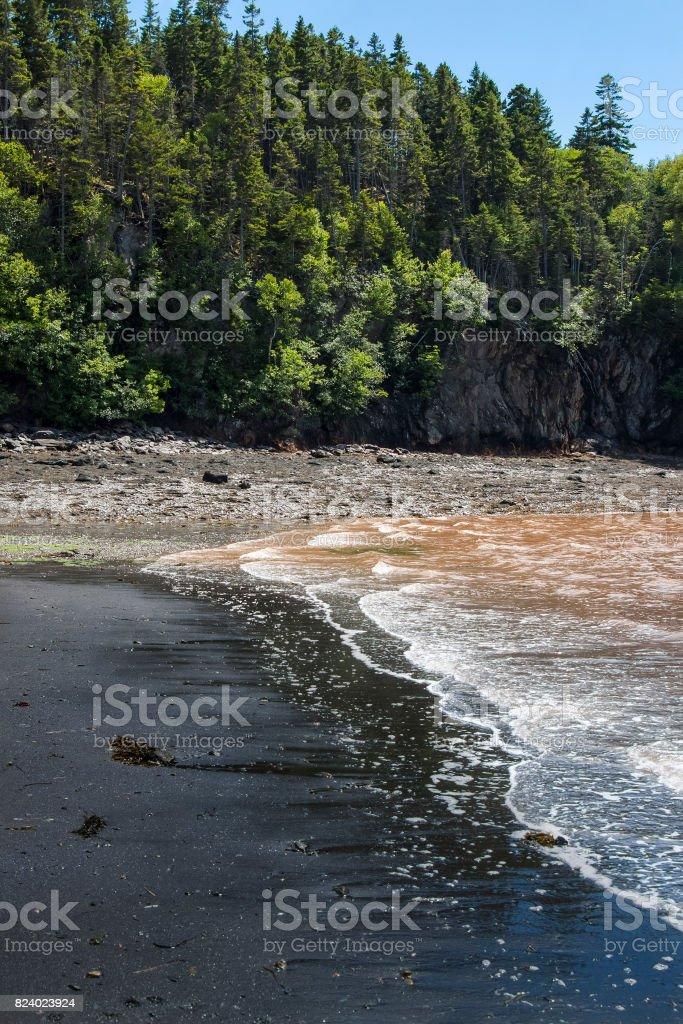 Black Beach New Brunswick, Maritimes, in Atlantic Canada stock photo