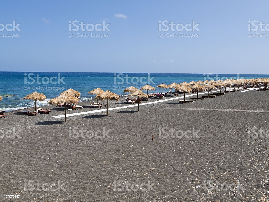 black beach,Santorini,Greece royalty-free stock photo