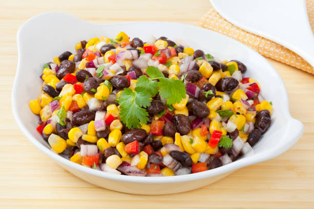 Black Bean and Corn Salad stock photo
