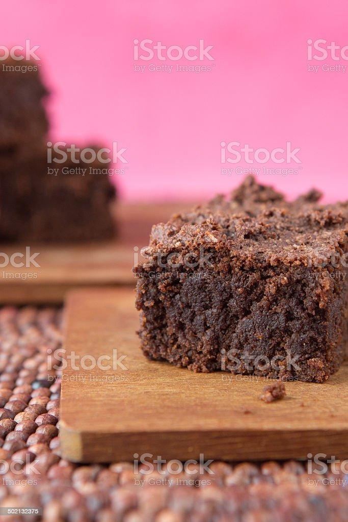 black bean avocado brownies stock photo