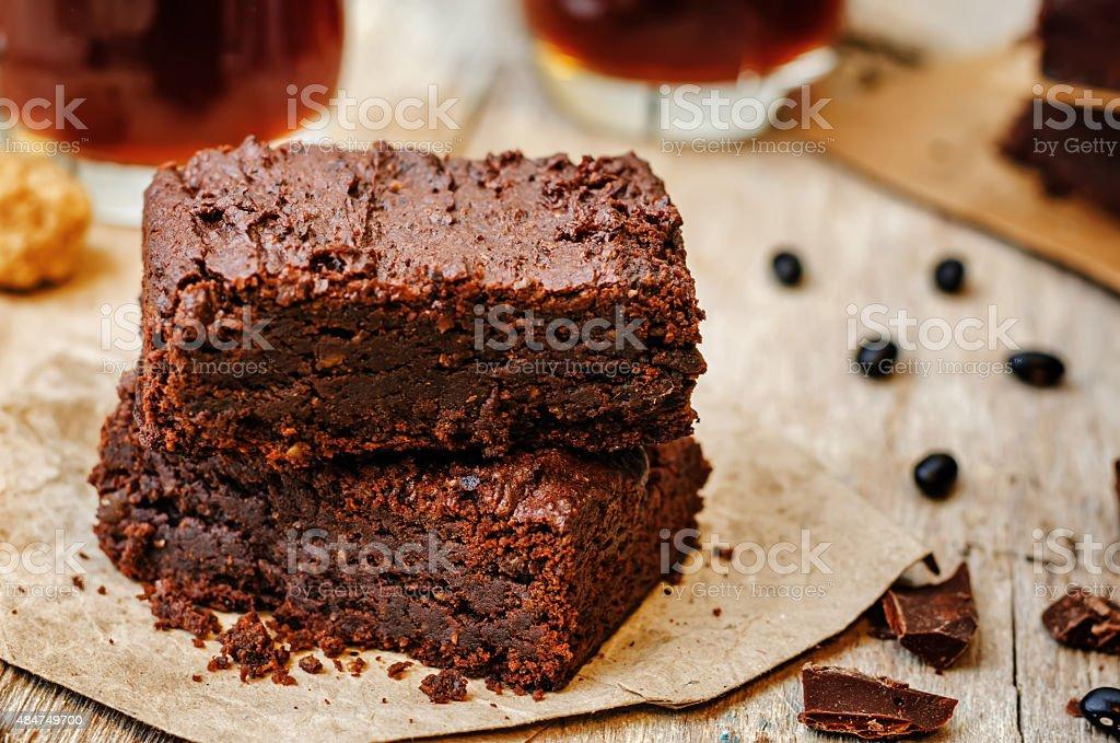 black bean brownies stock photo