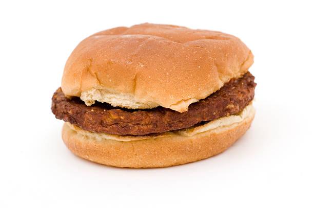 Black Bean Burger stock photo