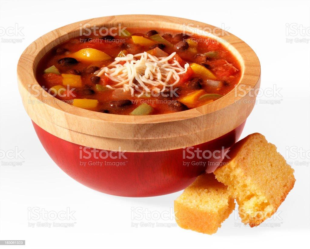 Black Bean Chili stock photo