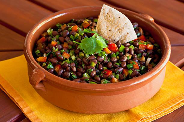 Black Bean Salad stock photo