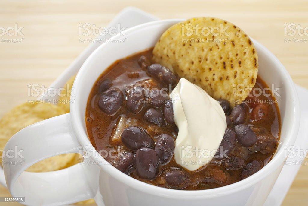 Black Bean Soup Mexican Mug stock photo