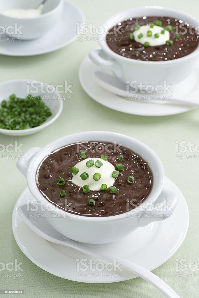 Black Bean Soup stock photo