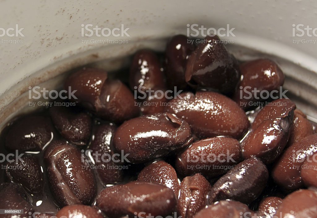 Black Beans in a Can royalty-free stock photo
