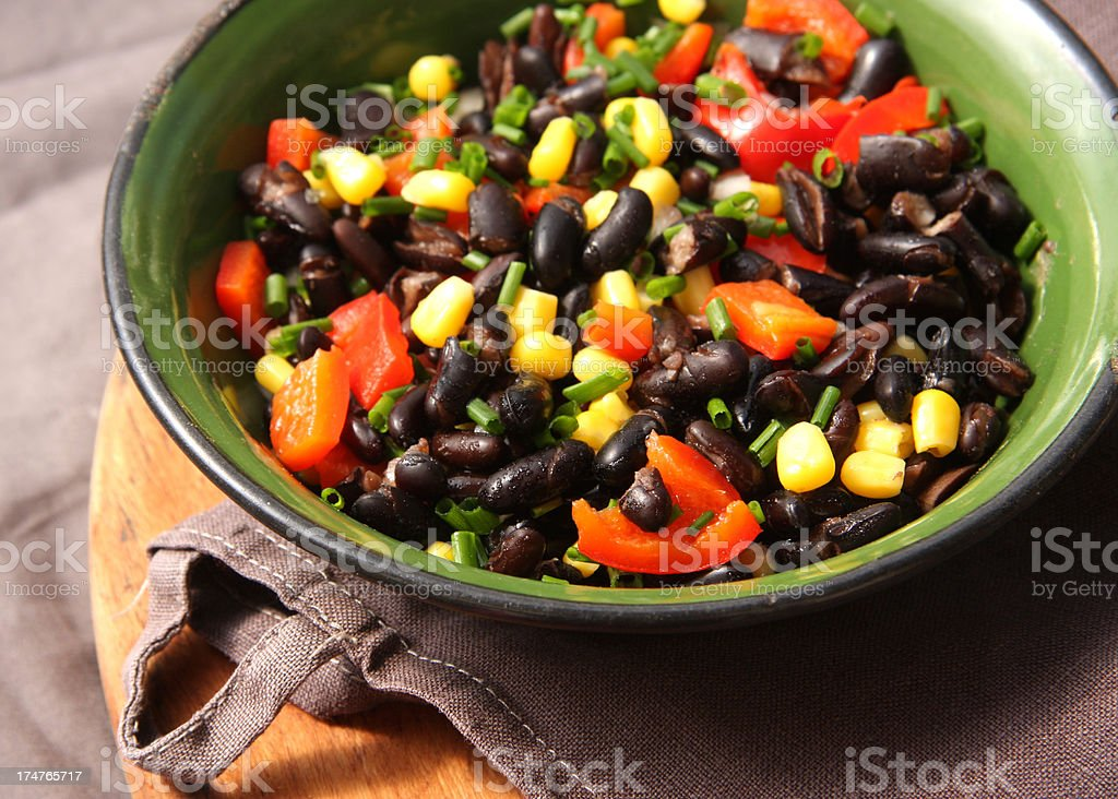 Black beans salad stock photo