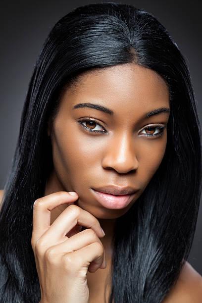 noir beauté avec parfait pour la peau - black beauty photos et images de collection