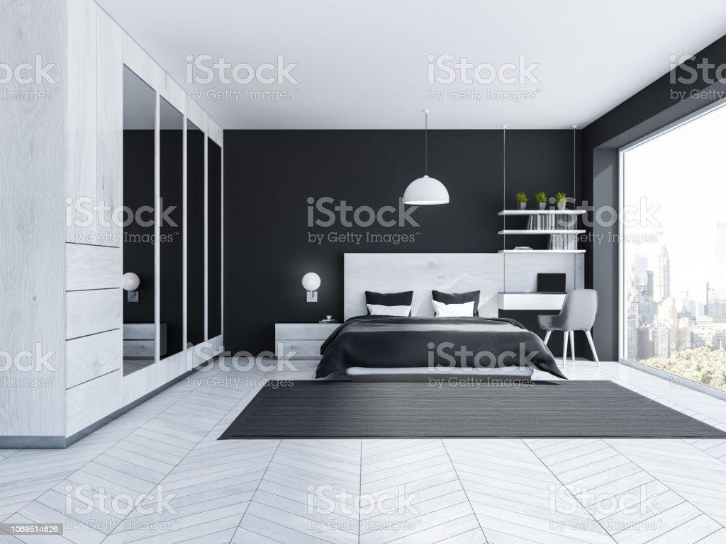 Black Bedroom Interior Wardrobe Stock Photo Download Image Now Istock
