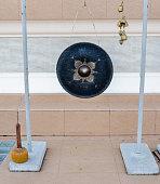 Black bell for pray in thai temple