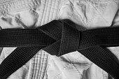 Martial arts black belt knot