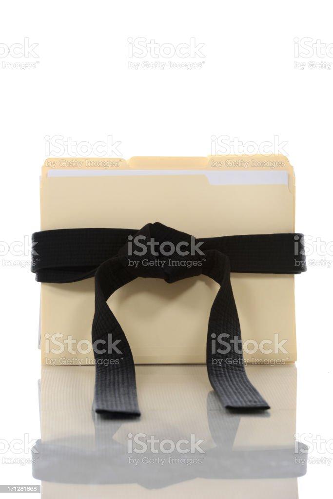 Black Belt Files stock photo