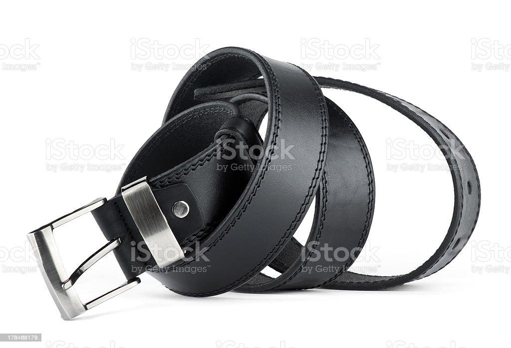 Black belt for men royalty-free stock photo