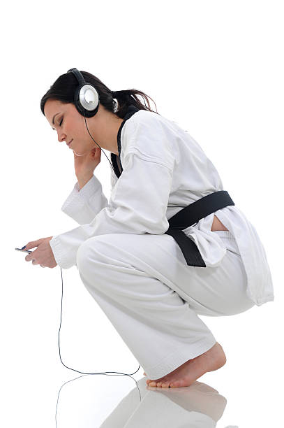 black belt music - martial arts gerville stock pictures, royalty-free photos & images