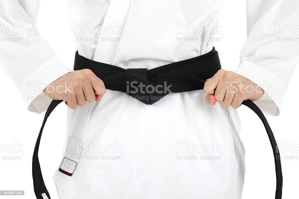 Black belt stock photo