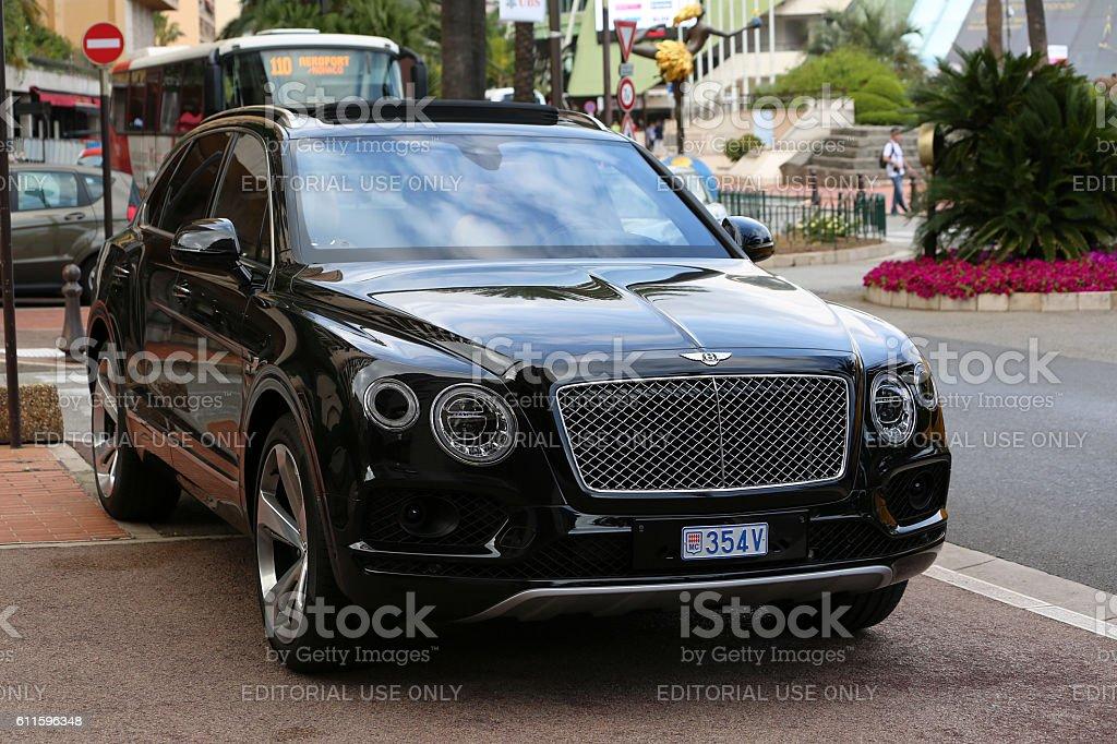 Black Bentley Bentayga stock photo
