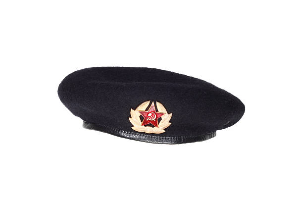 Black beret stock photo