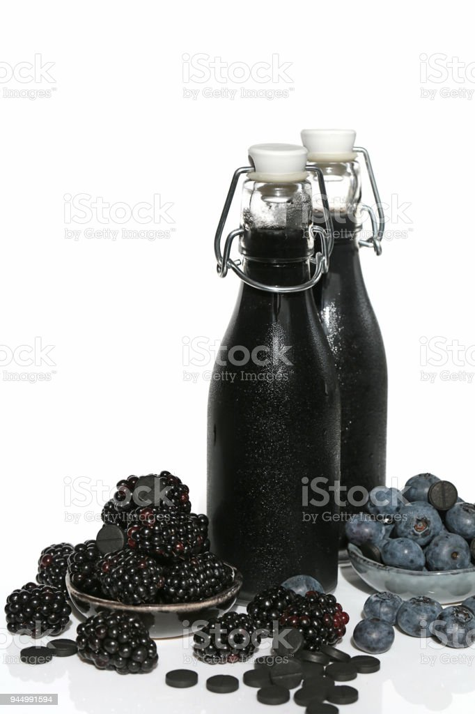 Black Berry Smoothie Healthy Smoothies Of Color From Blueberries Blackberries And
