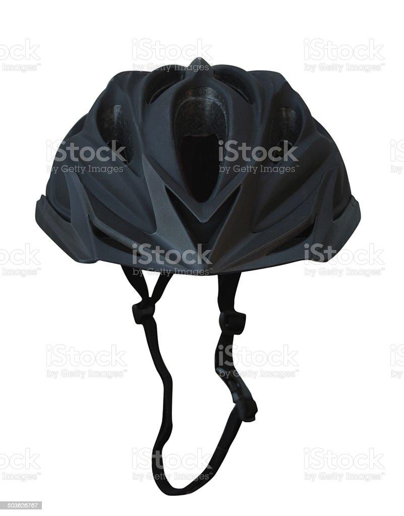 Black bicycle helmet stock photo