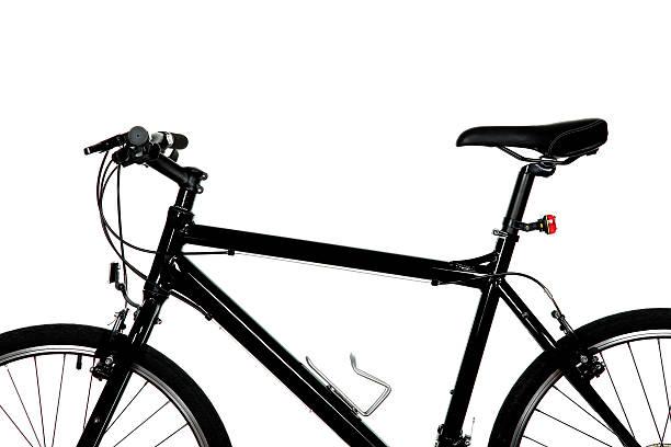 negro, bicicleta - bastidor de la bicicleta fotografías e imágenes de stock