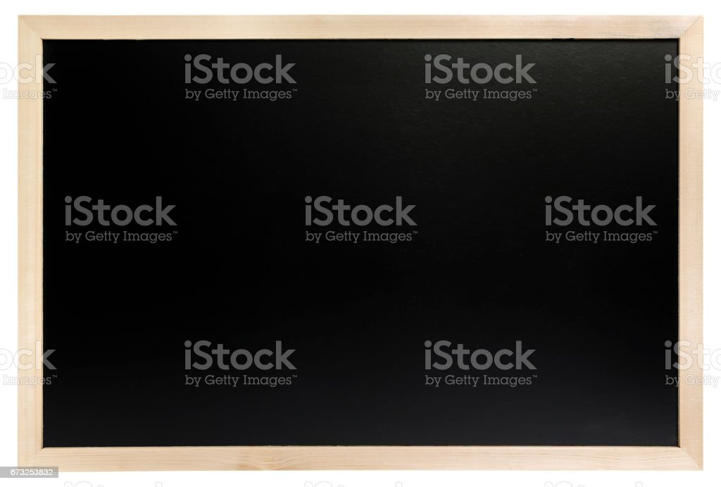 black blackboard placed horizontally isolated - Photo