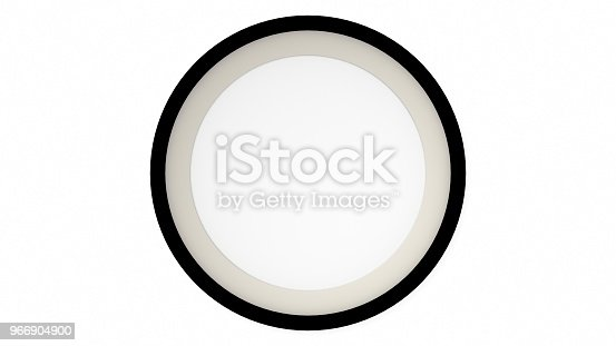 1144461291 istock photo Black blank circle frame on white background. 3d rendering 966904900