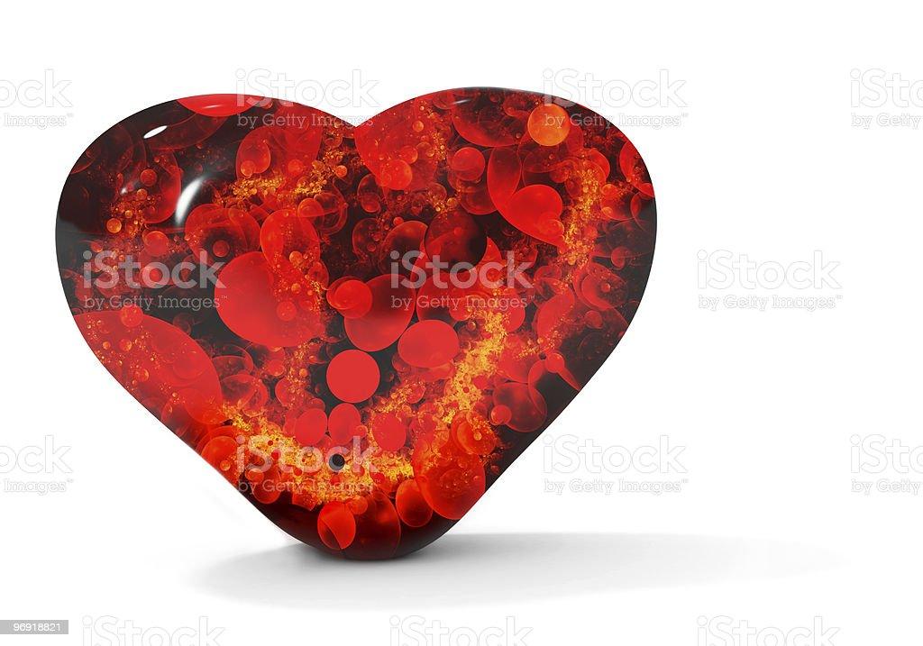 Black bleeding heart isolated on white royalty-free stock photo